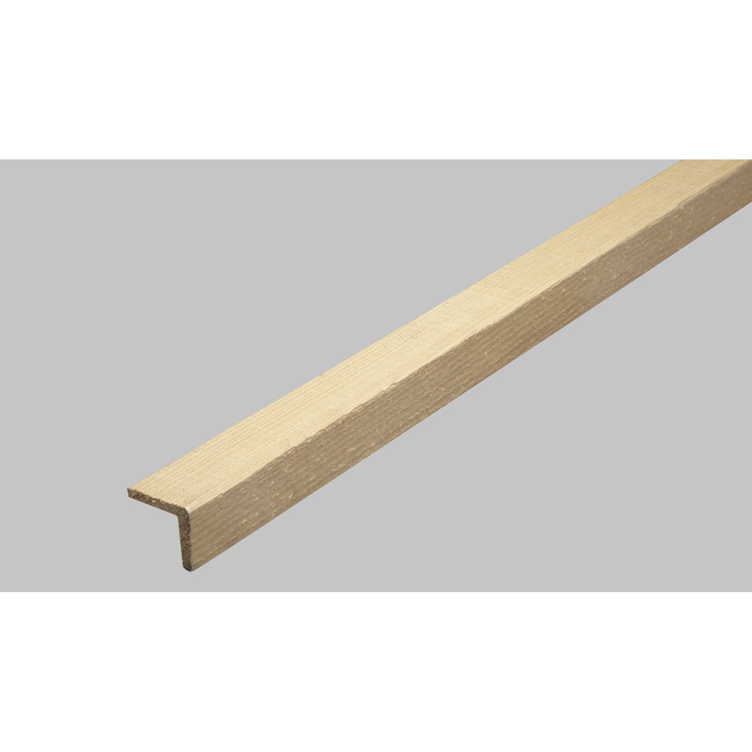 Baguette d 39 angle en sapin long 250cm section for Baguette finition carrelage sol
