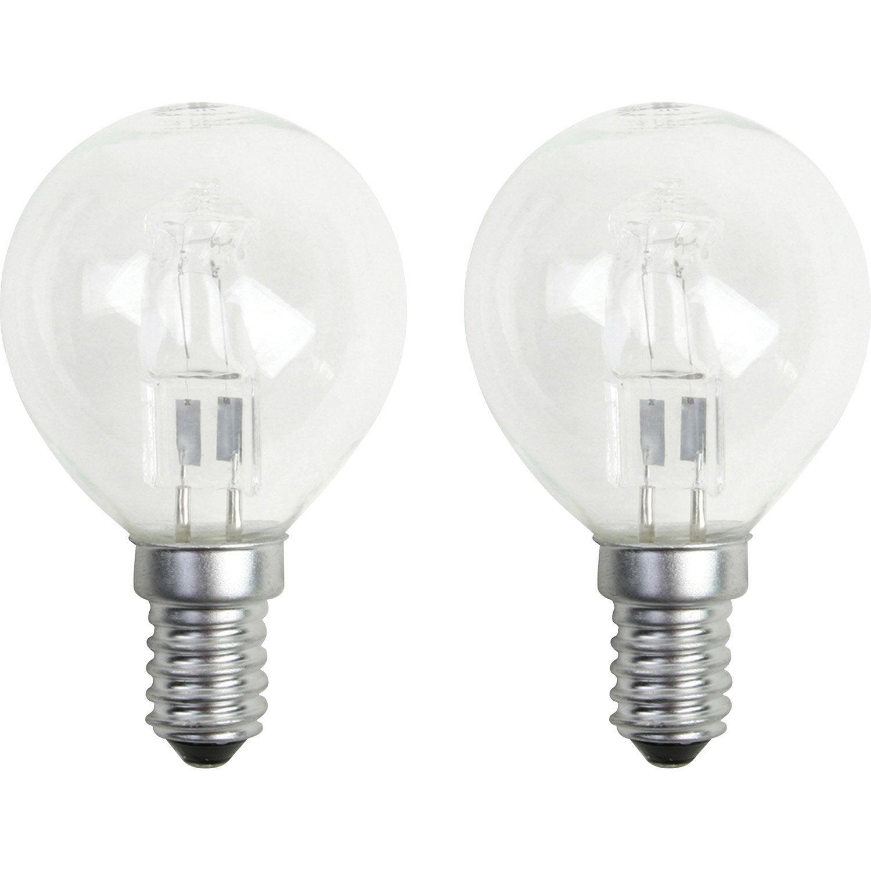 Ampoule sphérique halogène 30W = 410Lm équiv 40W E14 2800K LEXMAN