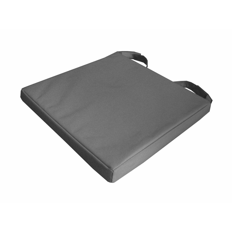 galette de chaise imperm able mona inspire gris x x h 4 cm leroy merlin. Black Bedroom Furniture Sets. Home Design Ideas