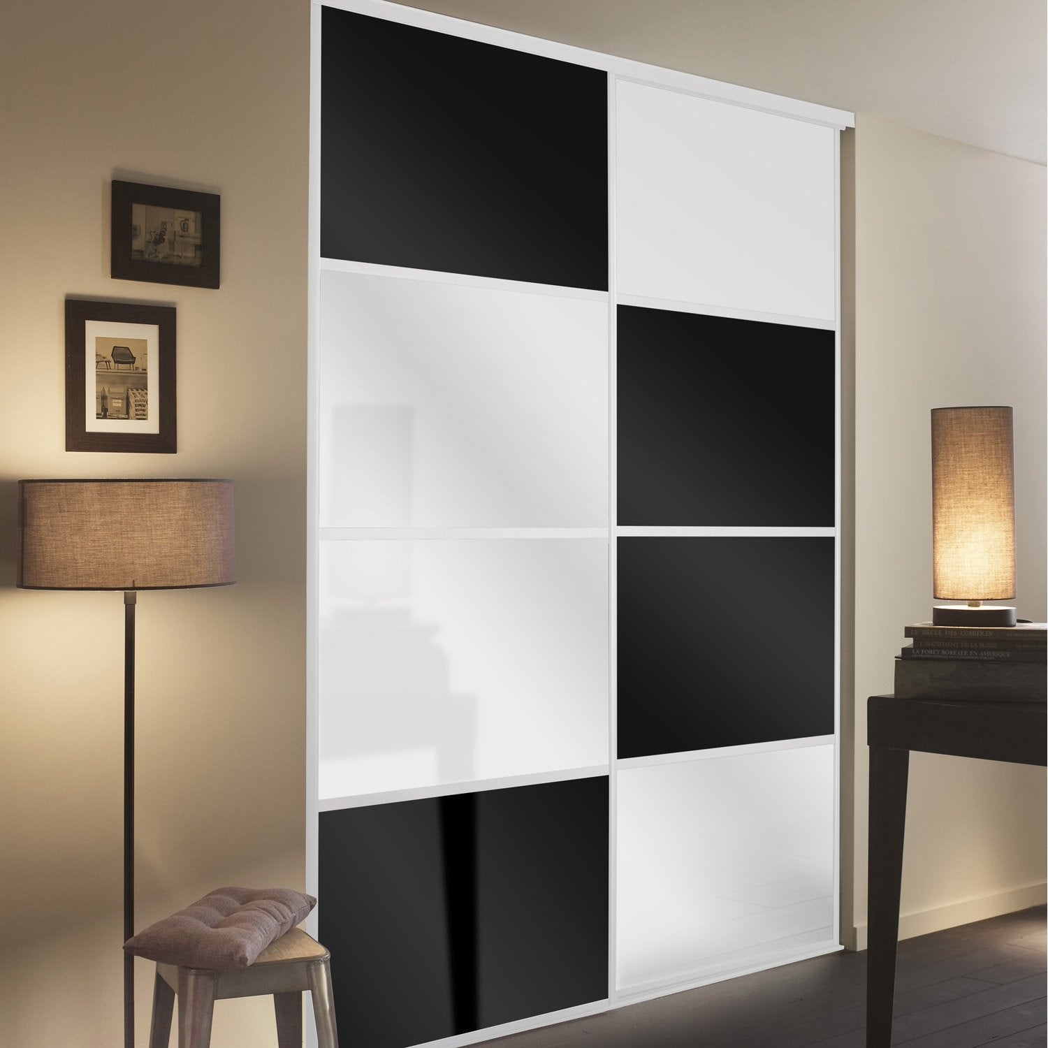 porte coulissante placard bricorama. Black Bedroom Furniture Sets. Home Design Ideas