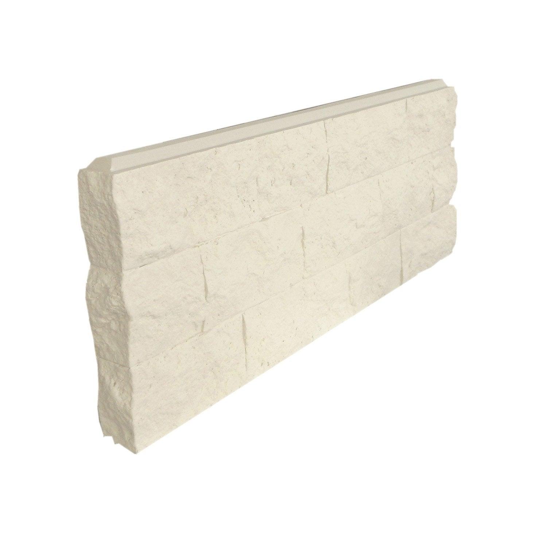 lot de 6 arr ts de mur gauche blanc polyur thane thermart rugosa mm leroy merlin. Black Bedroom Furniture Sets. Home Design Ideas