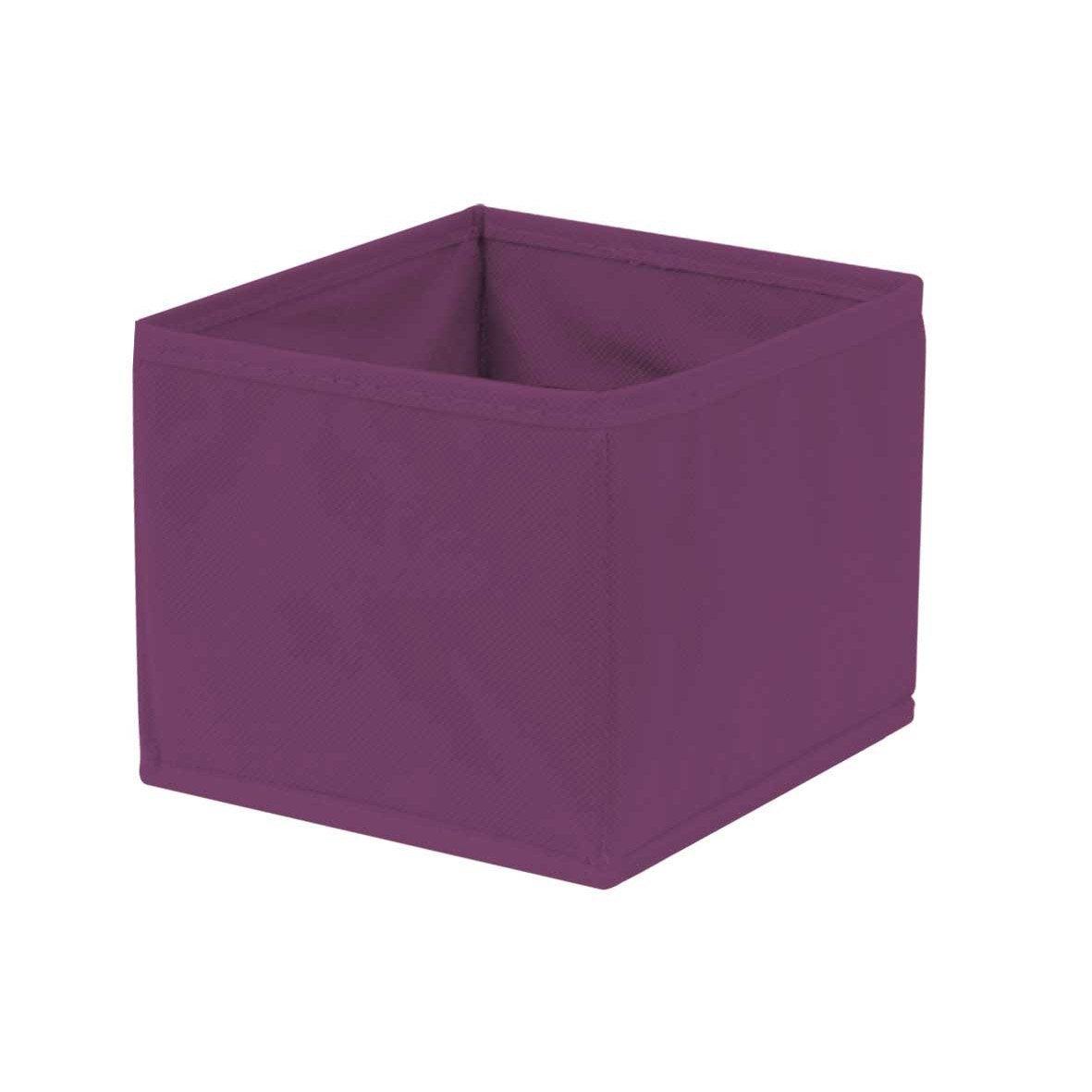 Panier de rangement spaceo violet x x cm - Panier rangement leroy merlin ...