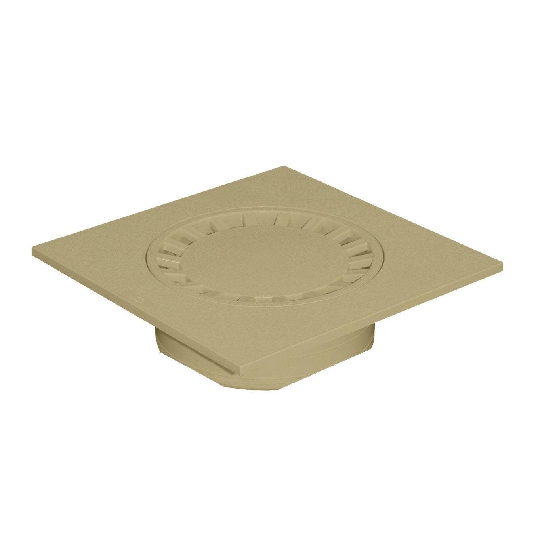 Siphon de cour en pvc first plast sable x cm for Siphon de cour 30x30
