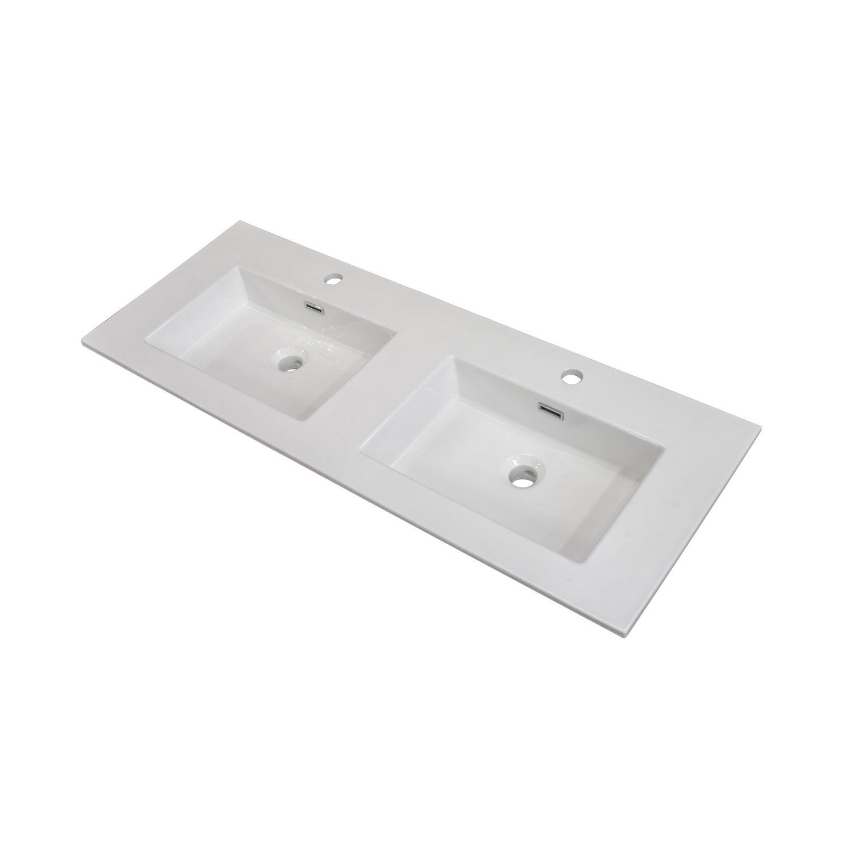 plan vasque double storm c ramique 121 0 cm leroy merlin. Black Bedroom Furniture Sets. Home Design Ideas