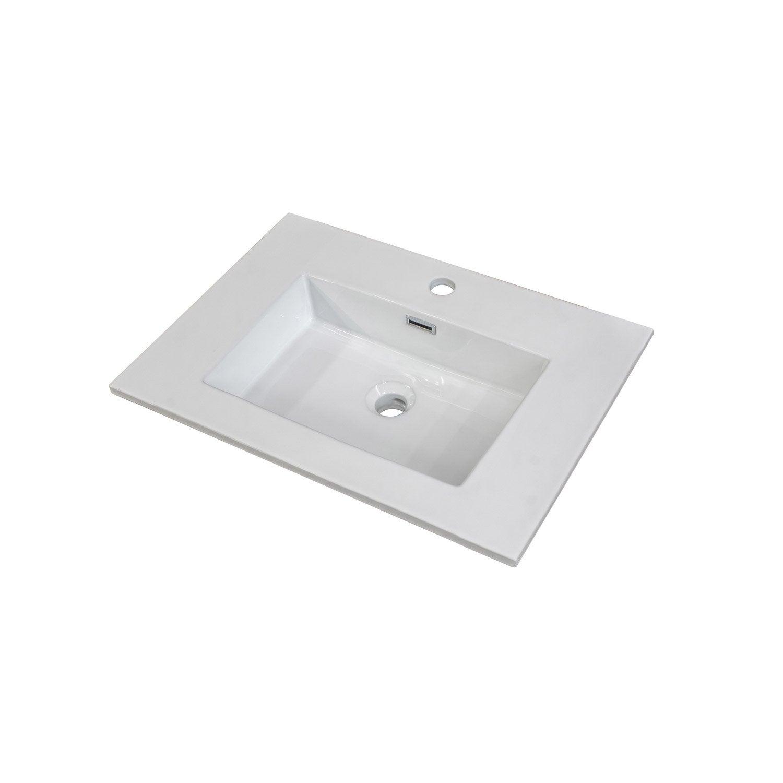 Plan vasque simple storm ashley c ramique 61 0 cm leroy for Plan vasque leroy merlin