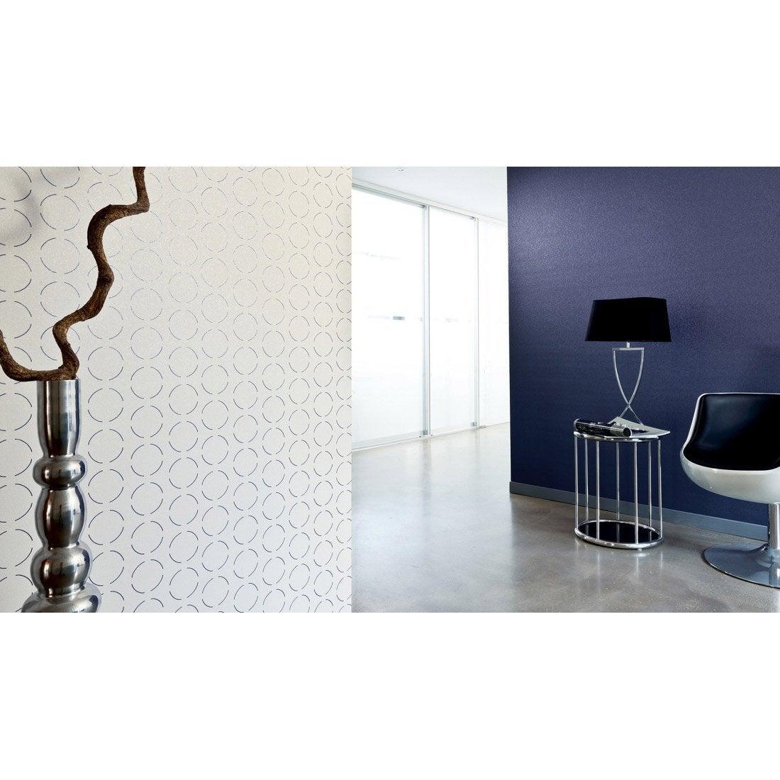 papier peint g om trique blanc violet intiss ap 2000 leroy merlin. Black Bedroom Furniture Sets. Home Design Ideas