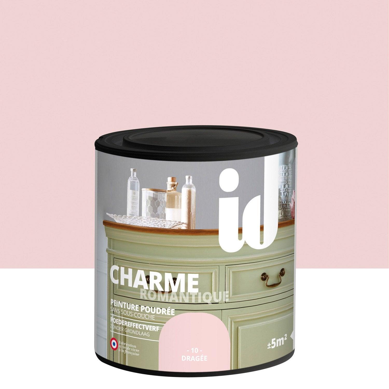 peinture pour meuble objet et porte poudr id charme drag e 0 5 l leroy merlin. Black Bedroom Furniture Sets. Home Design Ideas