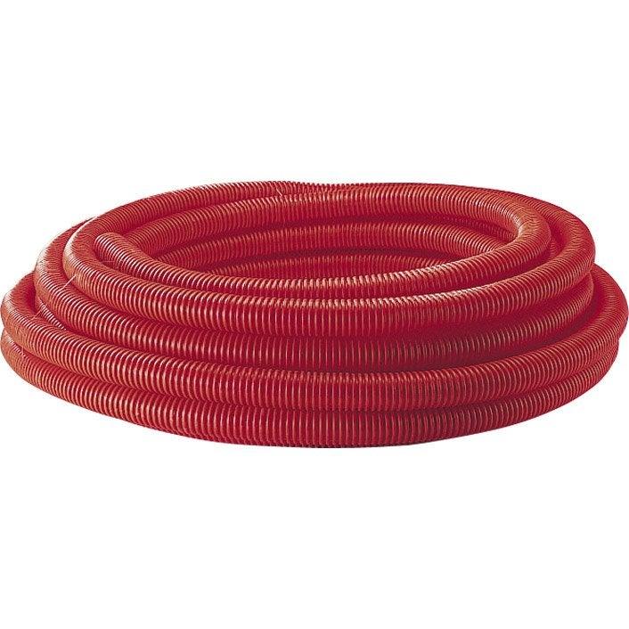 Gaine pour r seaux enterr s rouge mm m - Cable electrique exterieur enterre ...