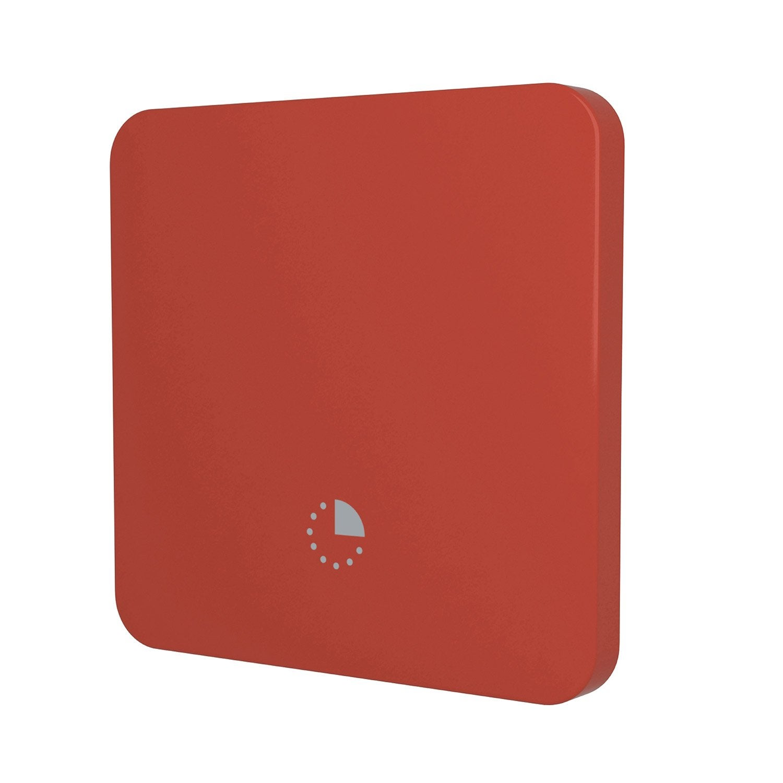 cache interrupteur minuterie cosy lexman rouge rouge n 3 leroy merlin. Black Bedroom Furniture Sets. Home Design Ideas
