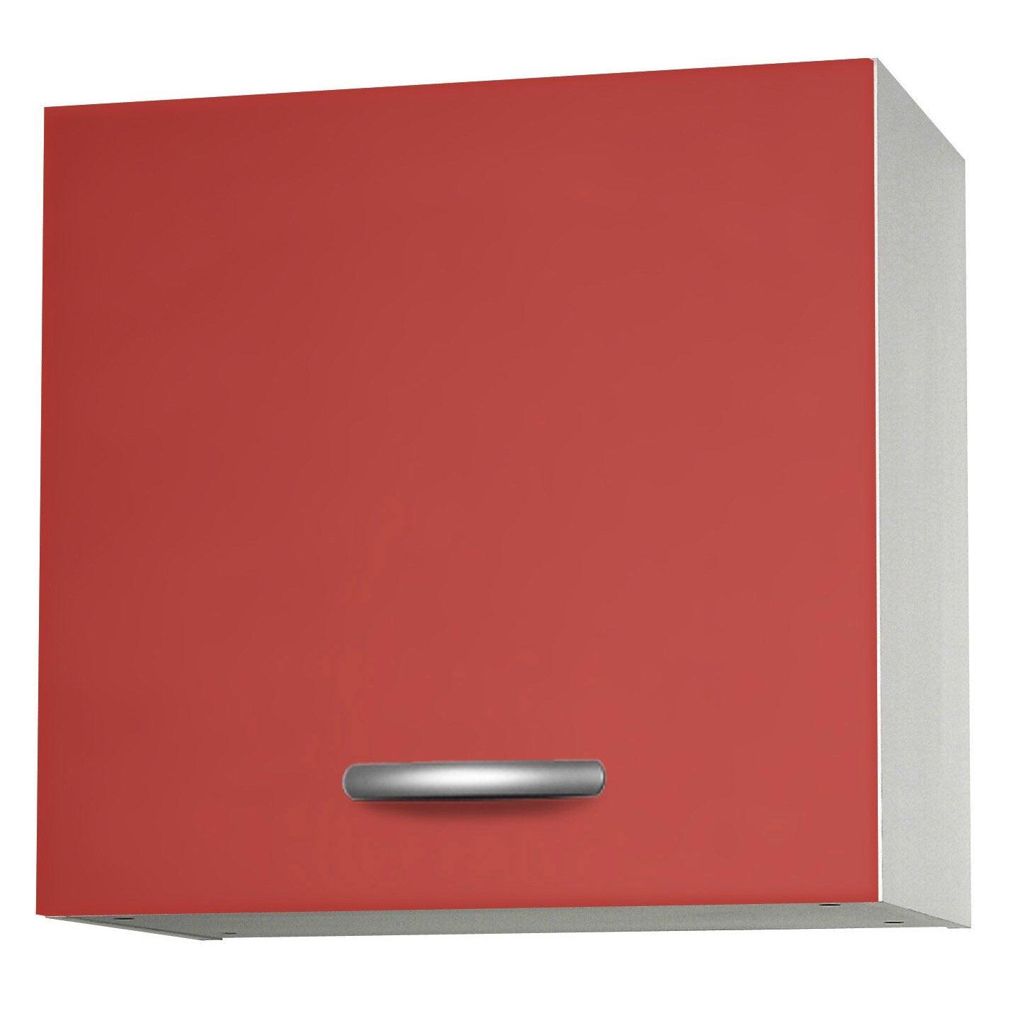 Meuble De Cuisine Haut 1 Porte Spring L60xh57xp35cm Rouge