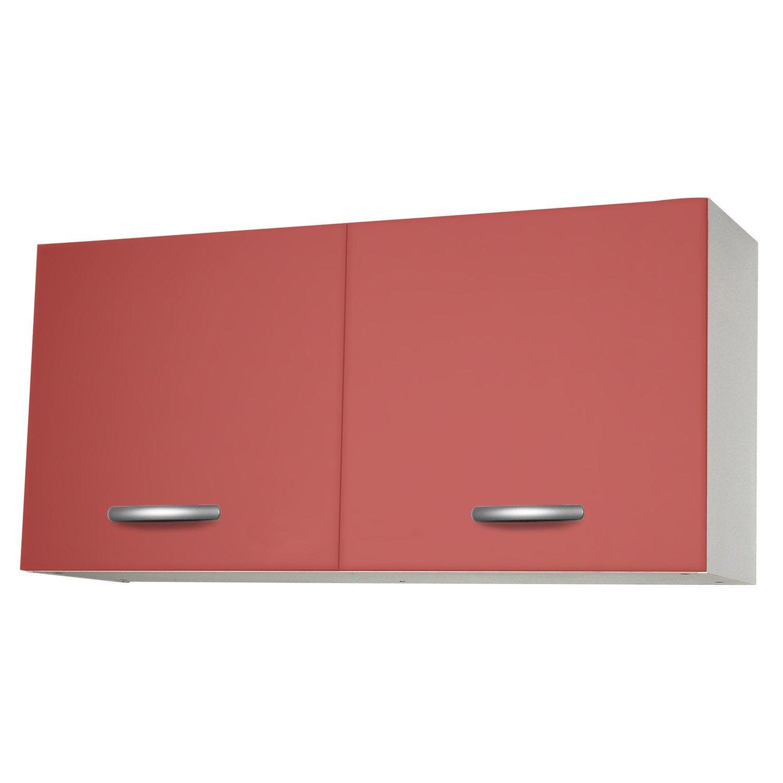 Meuble de cuisine haut 2 portes spring l120xh57xp35cm for Meuble haut porte pliante