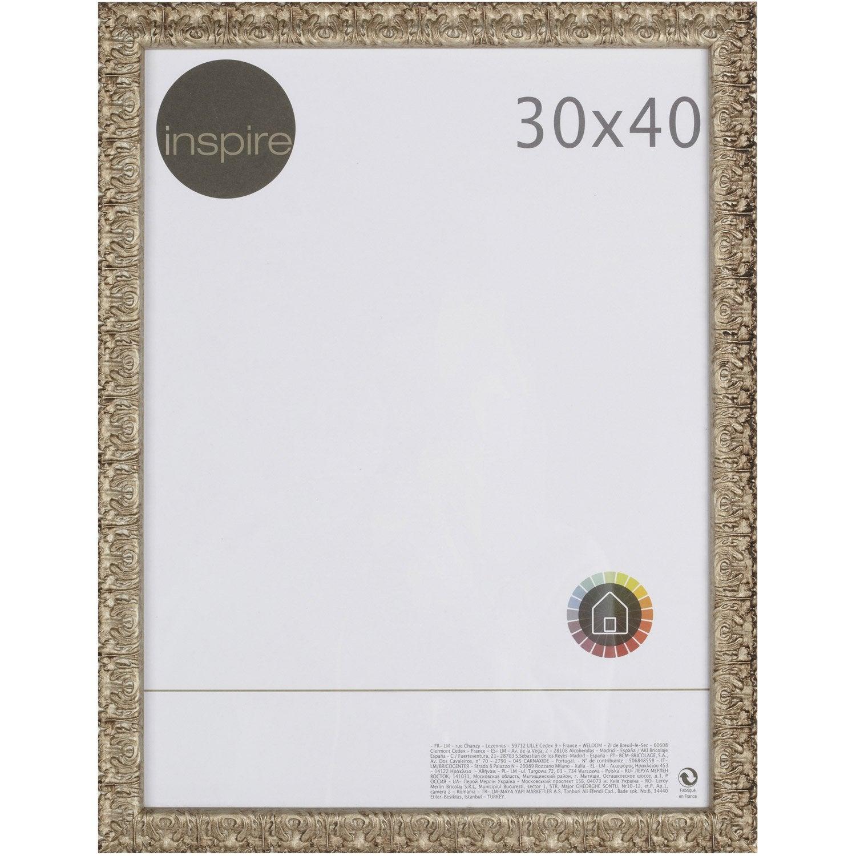 cadre bochet 30 x 40 cm argent leroy merlin. Black Bedroom Furniture Sets. Home Design Ideas