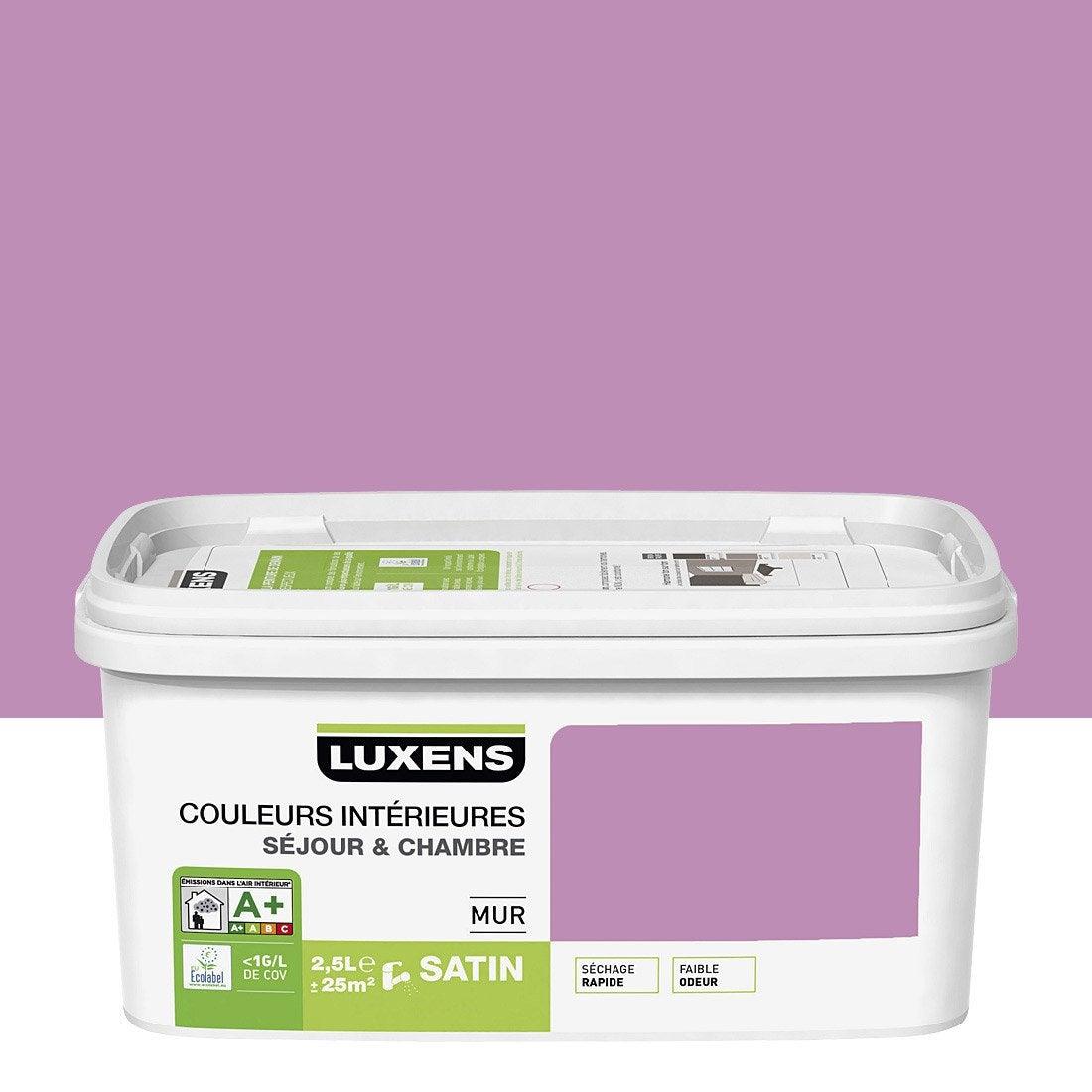 Peinture violet tulipe 5 luxens couleurs int rieures 2 5 l leroy merlin - Violet prune couleur ...