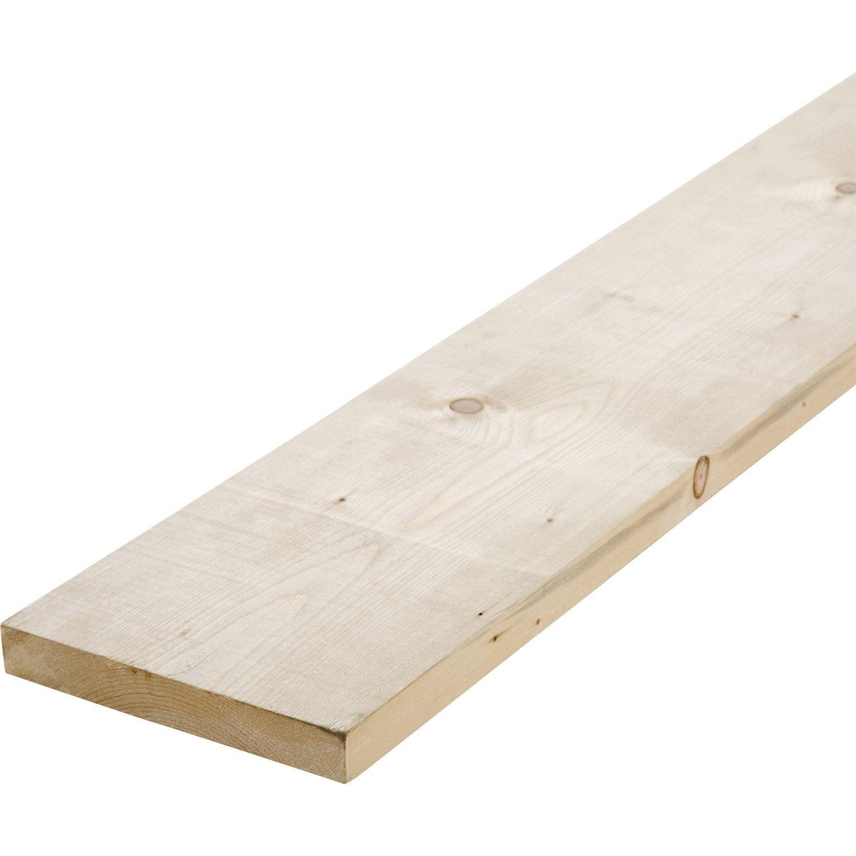 Planche sapin petits noeuds rabot 27 x 190 mm l 2 4 m leroy merlin - Leroy merlin planche sapin ...
