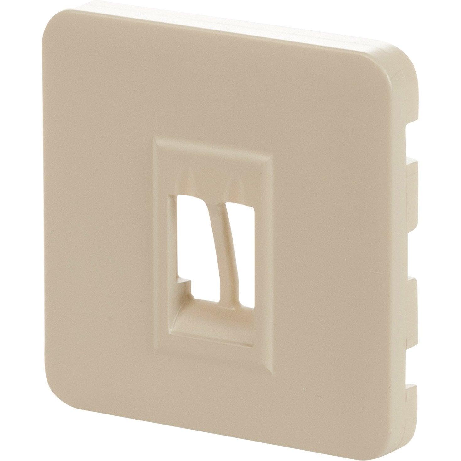 cache prise haut parleur cosy lexman gris dor n 5 mat leroy merlin. Black Bedroom Furniture Sets. Home Design Ideas