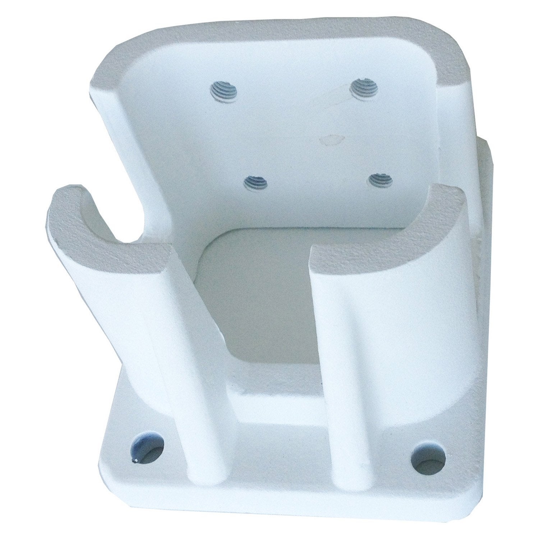 Accessoires d 39 ancrage fixer blanc en aluminium leroy merlin - Ancrage balancoire leroy merlin ...