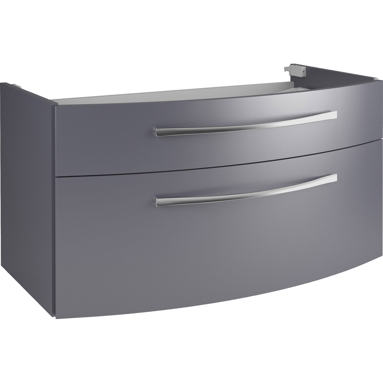 Meuble sous vasque gris maison design for Sous lavabo leroy merlin