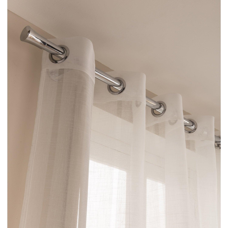 voilage igalo blanc x cm leroy merlin. Black Bedroom Furniture Sets. Home Design Ideas