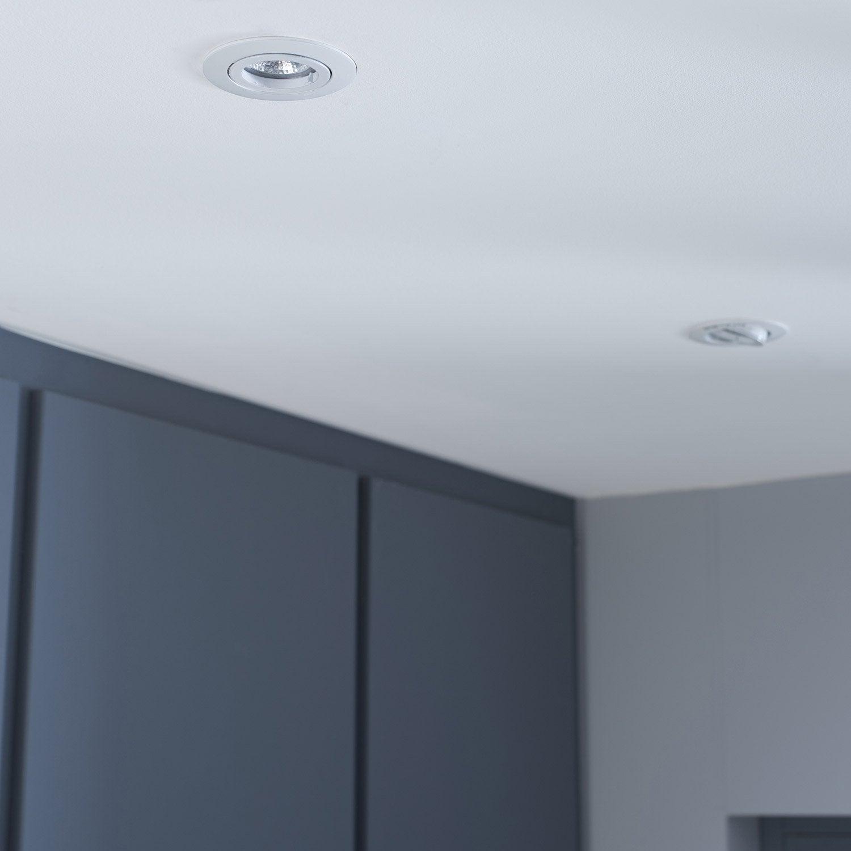 kit 3 spots encastrer bama orientable led inspire gu10 blanc leroy merlin. Black Bedroom Furniture Sets. Home Design Ideas