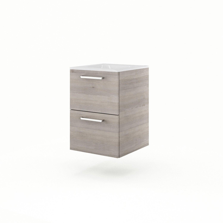 meuble vasque 46 cm ch ne gris neo line leroy merlin. Black Bedroom Furniture Sets. Home Design Ideas
