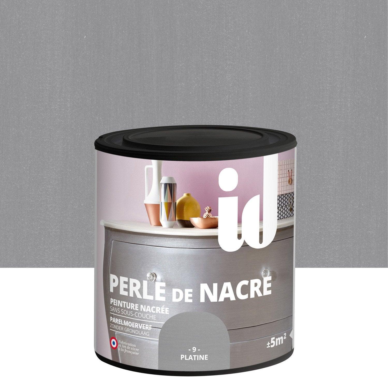 Peinture pour meuble objet et porte nacr id perle de nacre platine 0 5 l leroy merlin - Peinture meuble leroy merlin ...