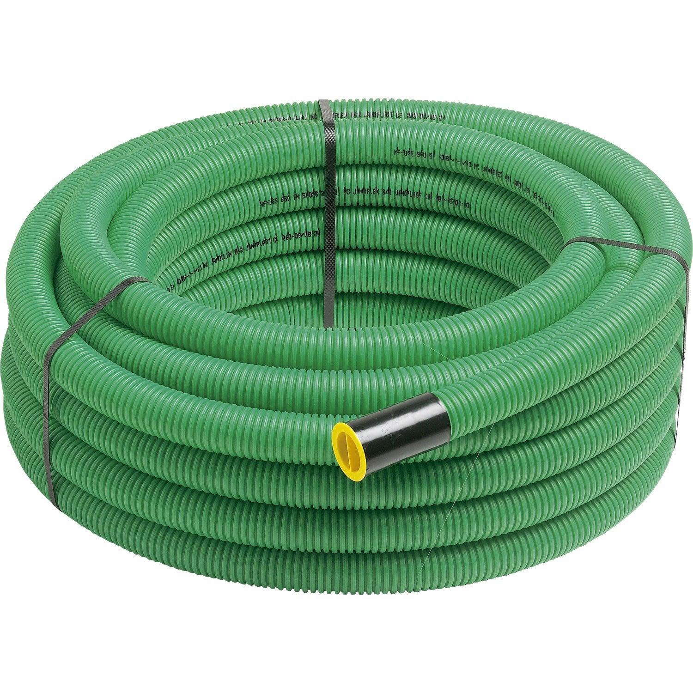 Gaine pour r seaux enterr s janoflex vert mm l for Diametre exterieur cable electrique
