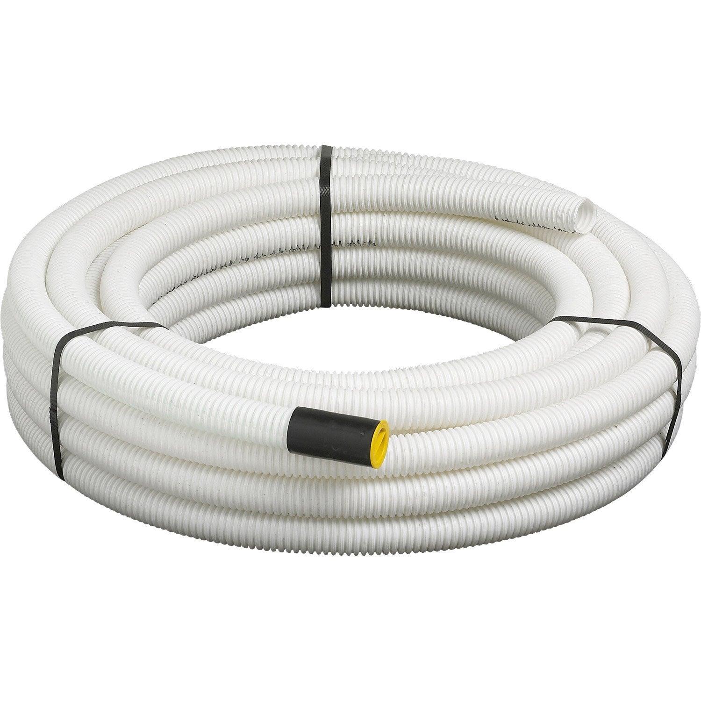 Gaine pour r seaux enterr s janoflex blanc mm m leroy merlin - Baguette pour cable electrique ...