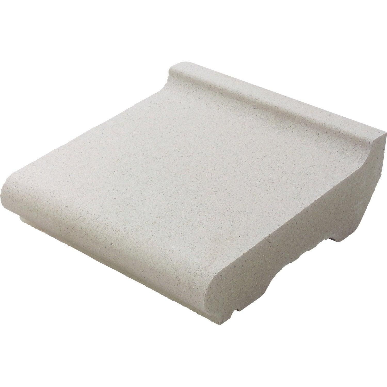 Appui de fen tre 33 x 35 cm blanc cass leroy merlin for Appui fenetre leroy merlin