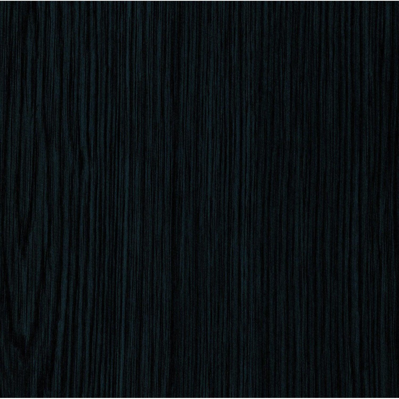 Rev tement adh sif bois noir 2 m x m leroy merlin for Panneau adhesif cuisine