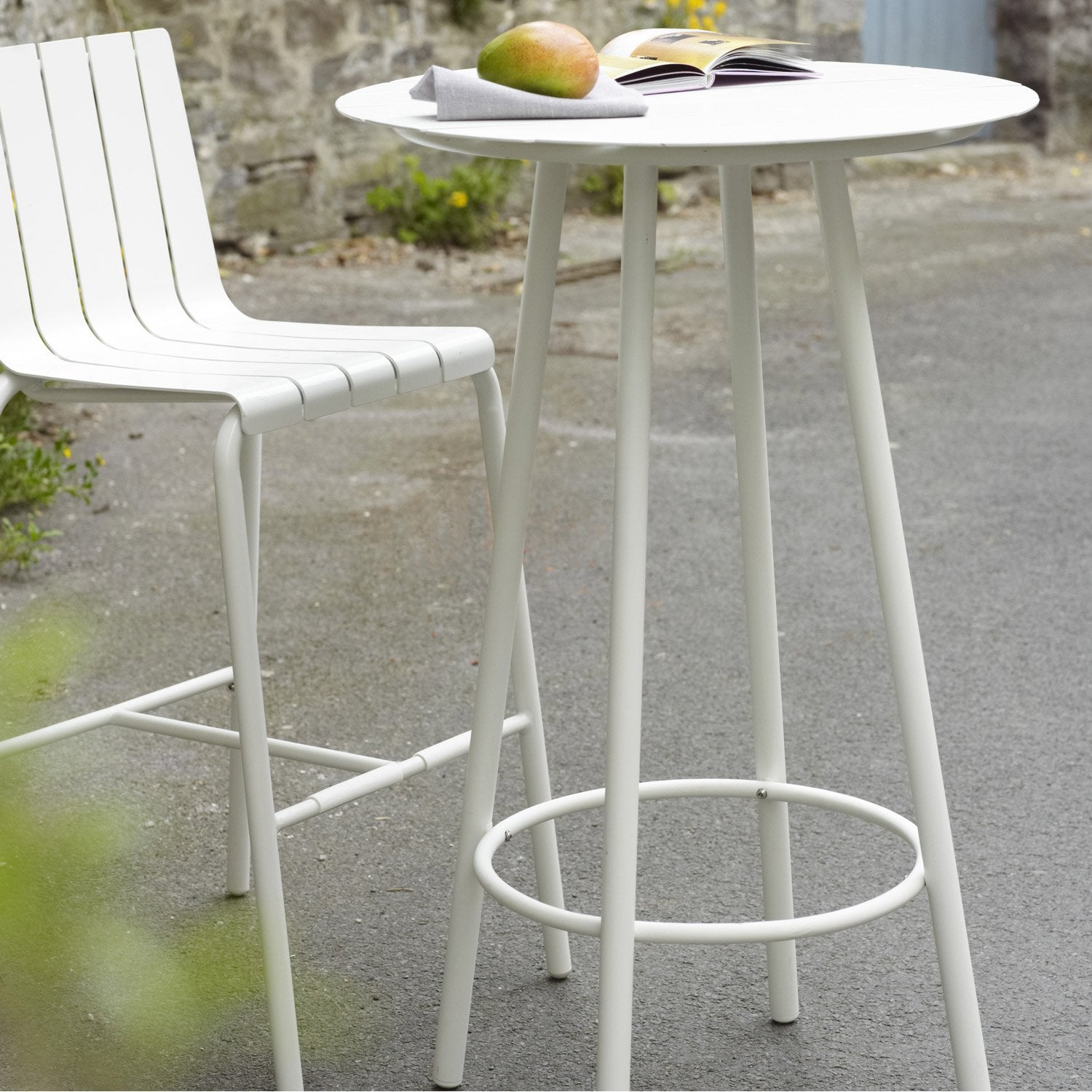Table de jardin en aluminium exploration blanc naterial leroy merlin - Table de jardin aluminium leroy merlin ...
