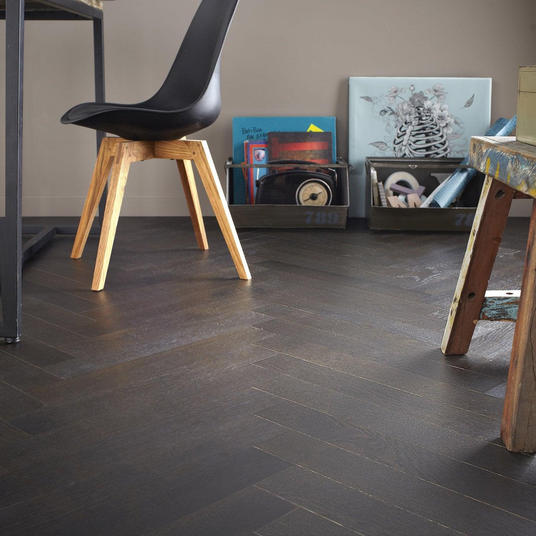 parquet contrecoll ch ne brun choco huil b ton rompu. Black Bedroom Furniture Sets. Home Design Ideas
