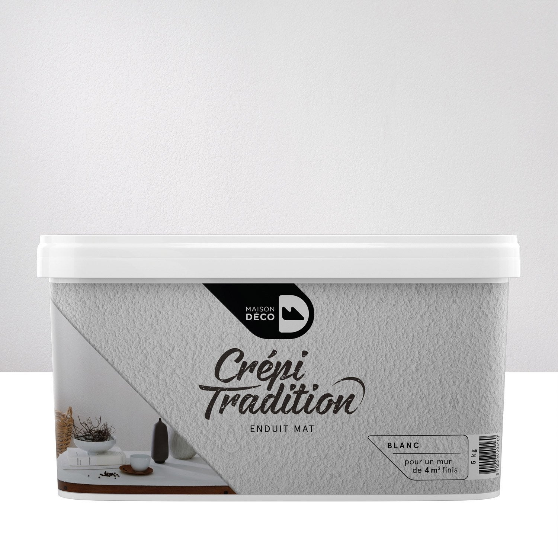 peinture effet cr pi tradition maison deco blanc 5 kg leroy merlin. Black Bedroom Furniture Sets. Home Design Ideas