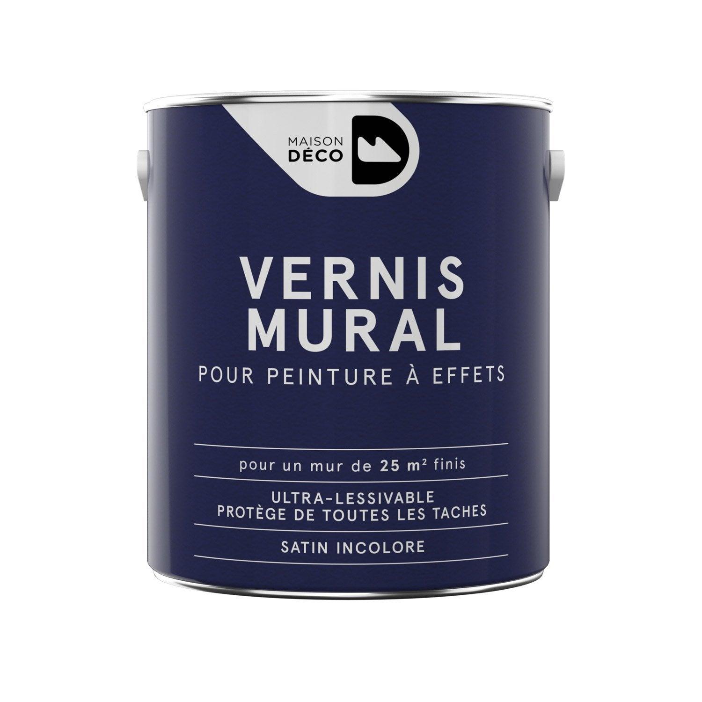 Peinture effet maison deco incolore 2 5 l leroy merlin - Peinture pour baignoire en fonte ...