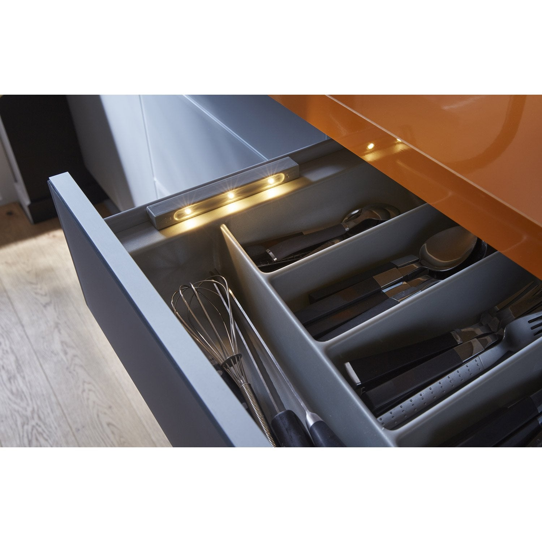 r glette tiroir smartlight led 1 x led int gr e leroy merlin. Black Bedroom Furniture Sets. Home Design Ideas