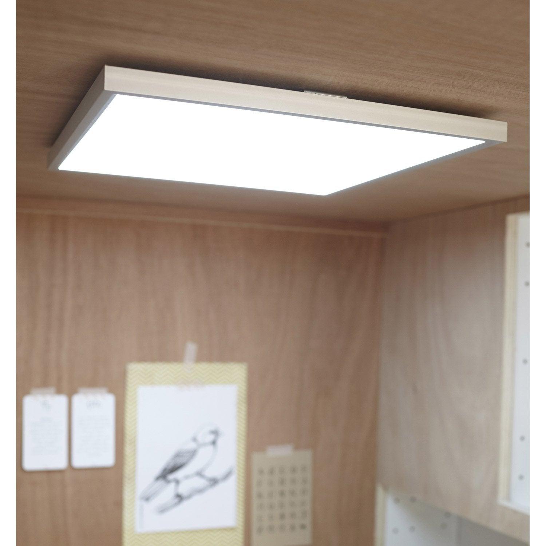 panneau led gdansk led 1 x 18w led int gr e leroy merlin. Black Bedroom Furniture Sets. Home Design Ideas