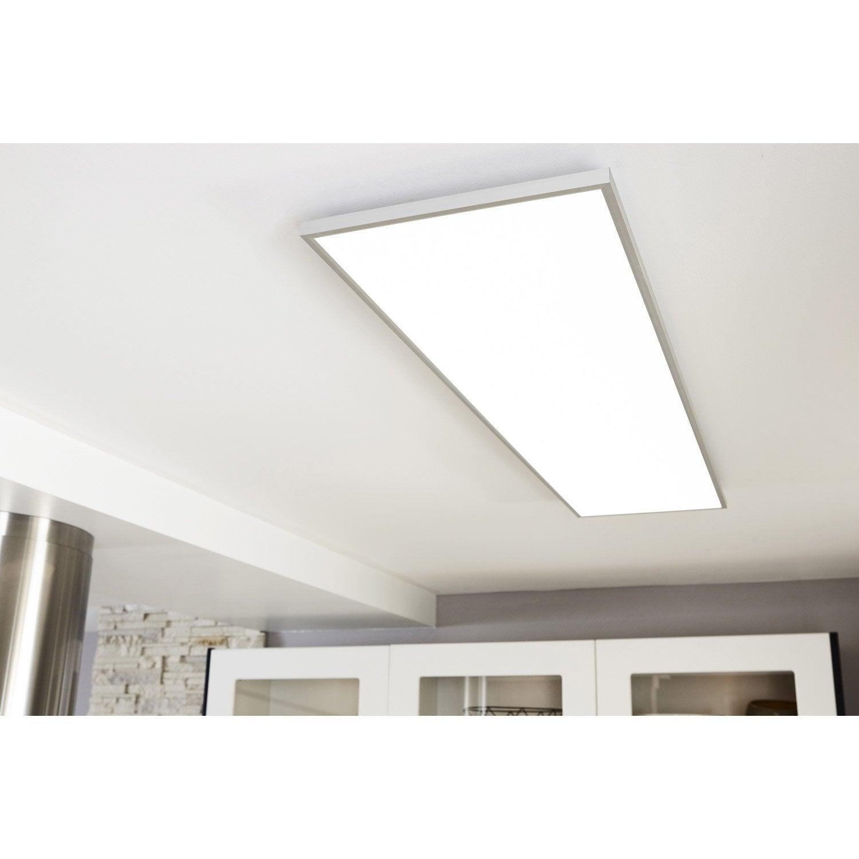 Panneau LED intégrée Gdansk INSPIRE rectangle 120 x 30 cm