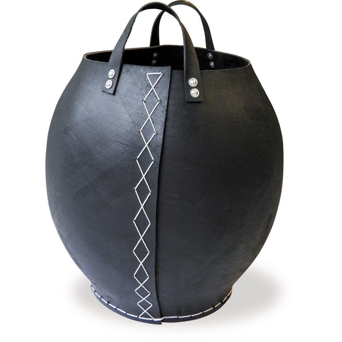 Panier granules simili cuir tayara noir leroy merlin - Granule leroy merlin ...