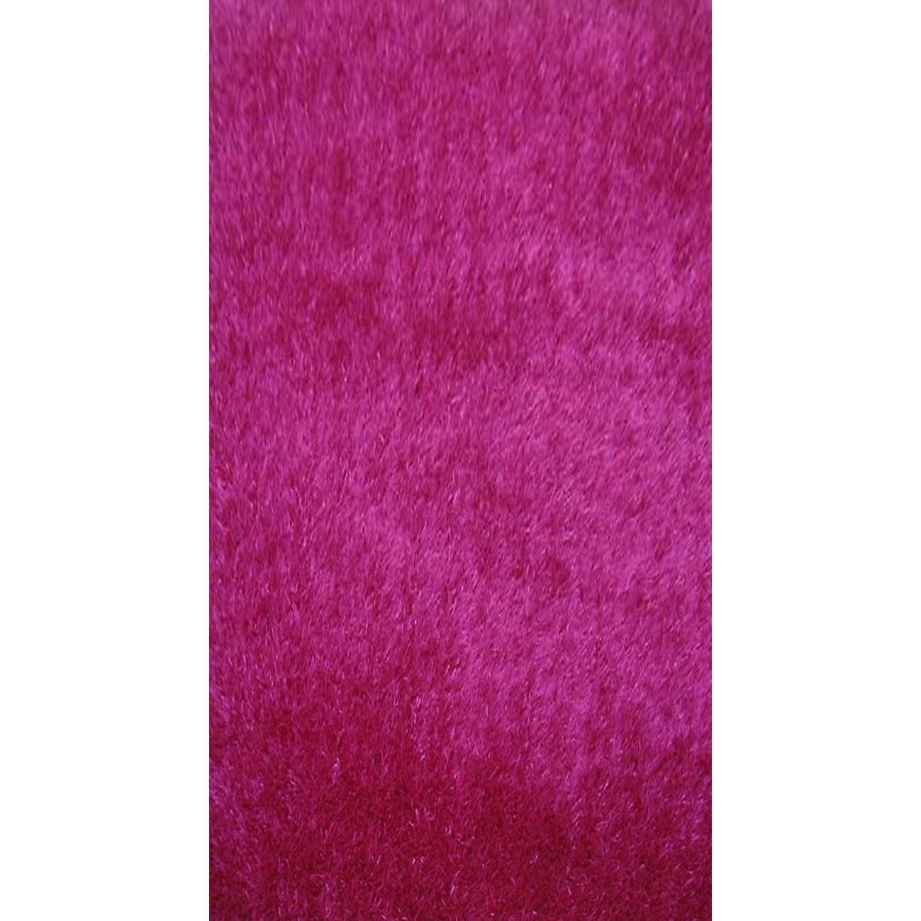 tapis shaggy lilou fuchsia 110x60 cm leroy merlin. Black Bedroom Furniture Sets. Home Design Ideas