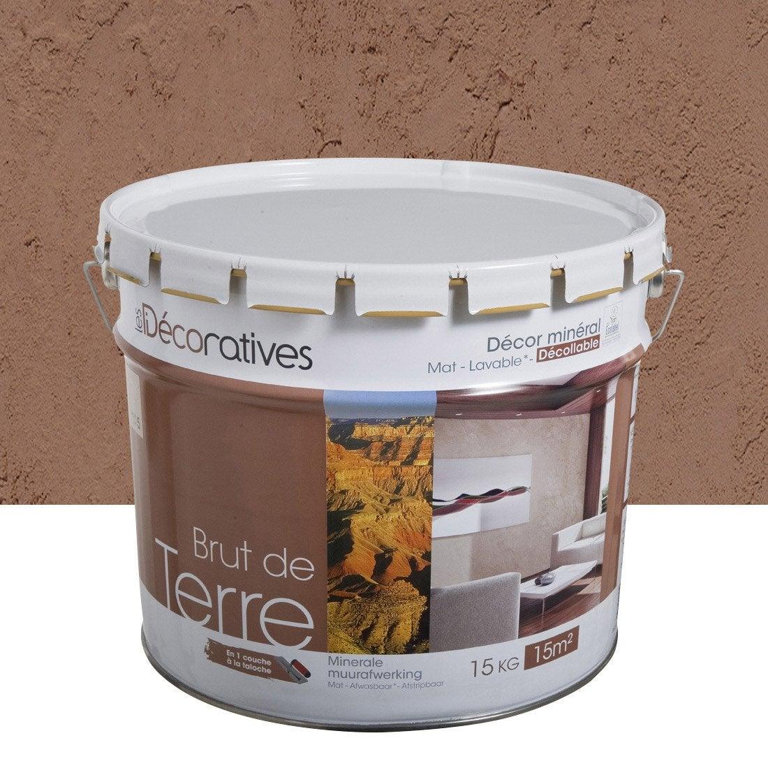 Enduit d coratif brut de terre les decoratives beige - Enduit decoratif leroy merlin ...