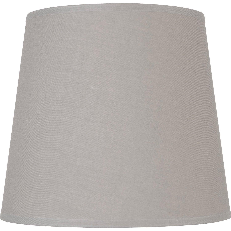 abat jour conique 12 cm coton ciment leroy merlin. Black Bedroom Furniture Sets. Home Design Ideas