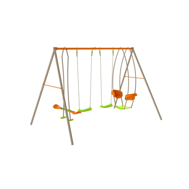 portique en m tal 2m20 trigano 4 agr s leroy merlin. Black Bedroom Furniture Sets. Home Design Ideas