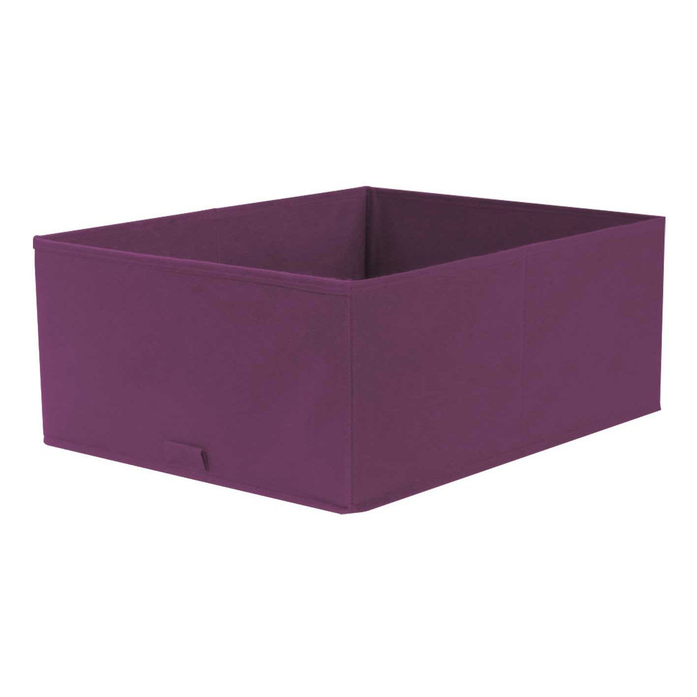Panier de rangement spaceo violet x x - Leroy merlin panier rangement ...