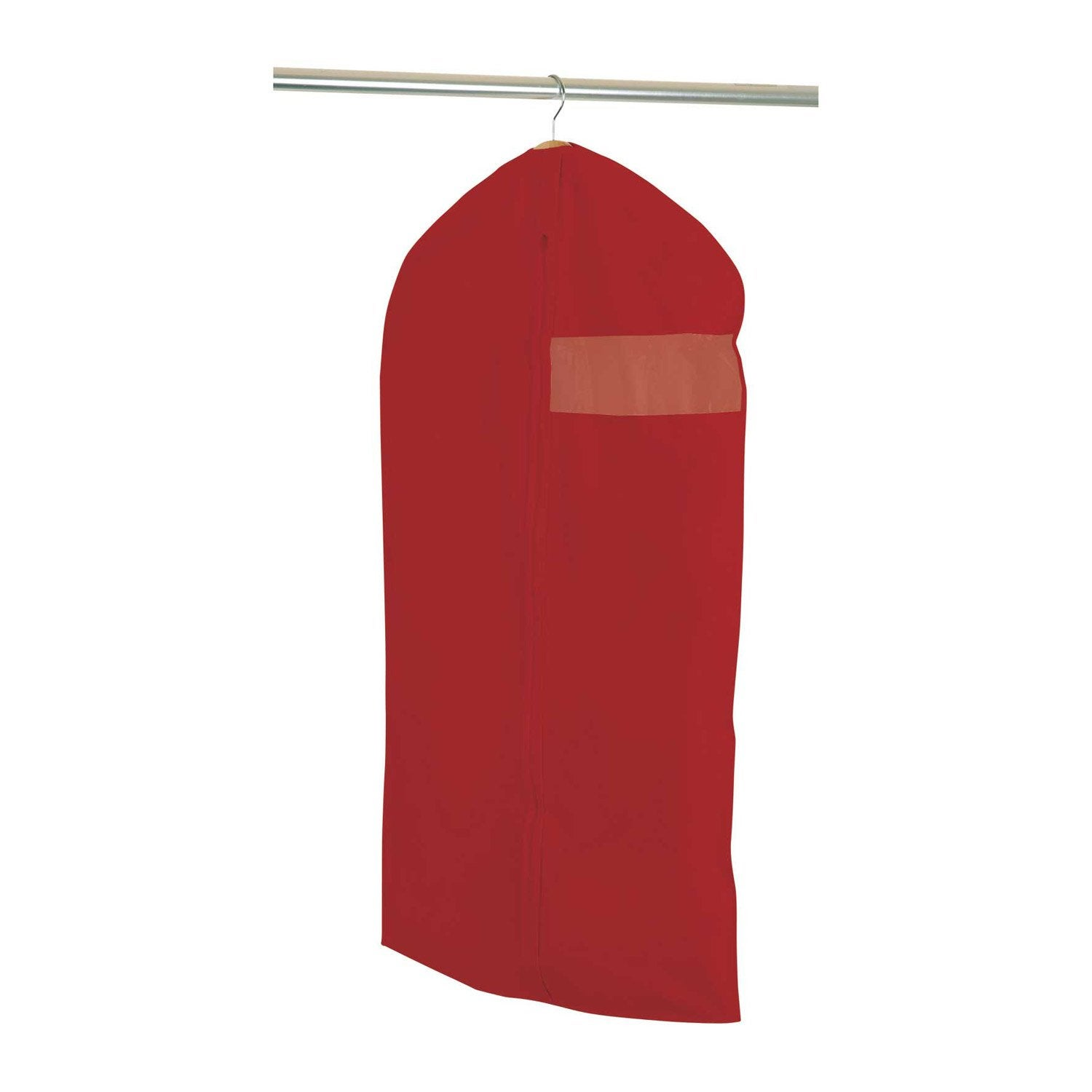 Housse v tements courte spaceo intiss rouge x h for Housse a vetement