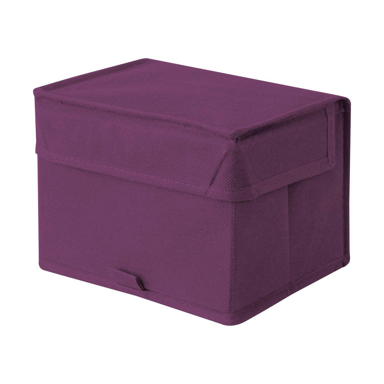 Bo te de rangement spaceo violet x x - Tour de rangement leroy merlin ...
