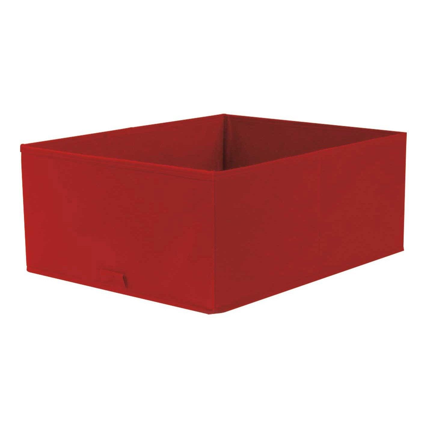 Panier de rangement spaceo rouge x x - Leroy merlin panier rangement ...