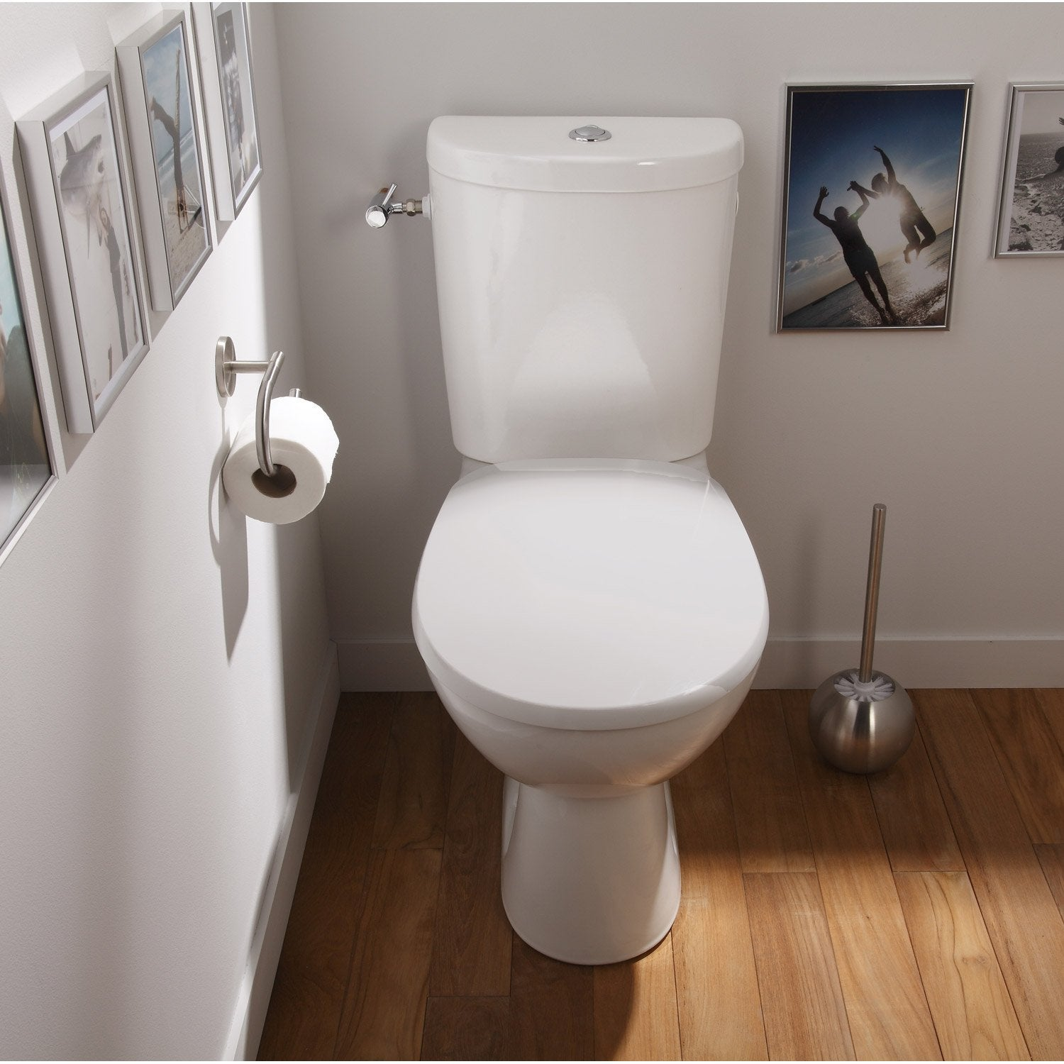 Pack wc poser sortie horizontale sensea remix leroy merlin - Carrelage toilettes photos ...