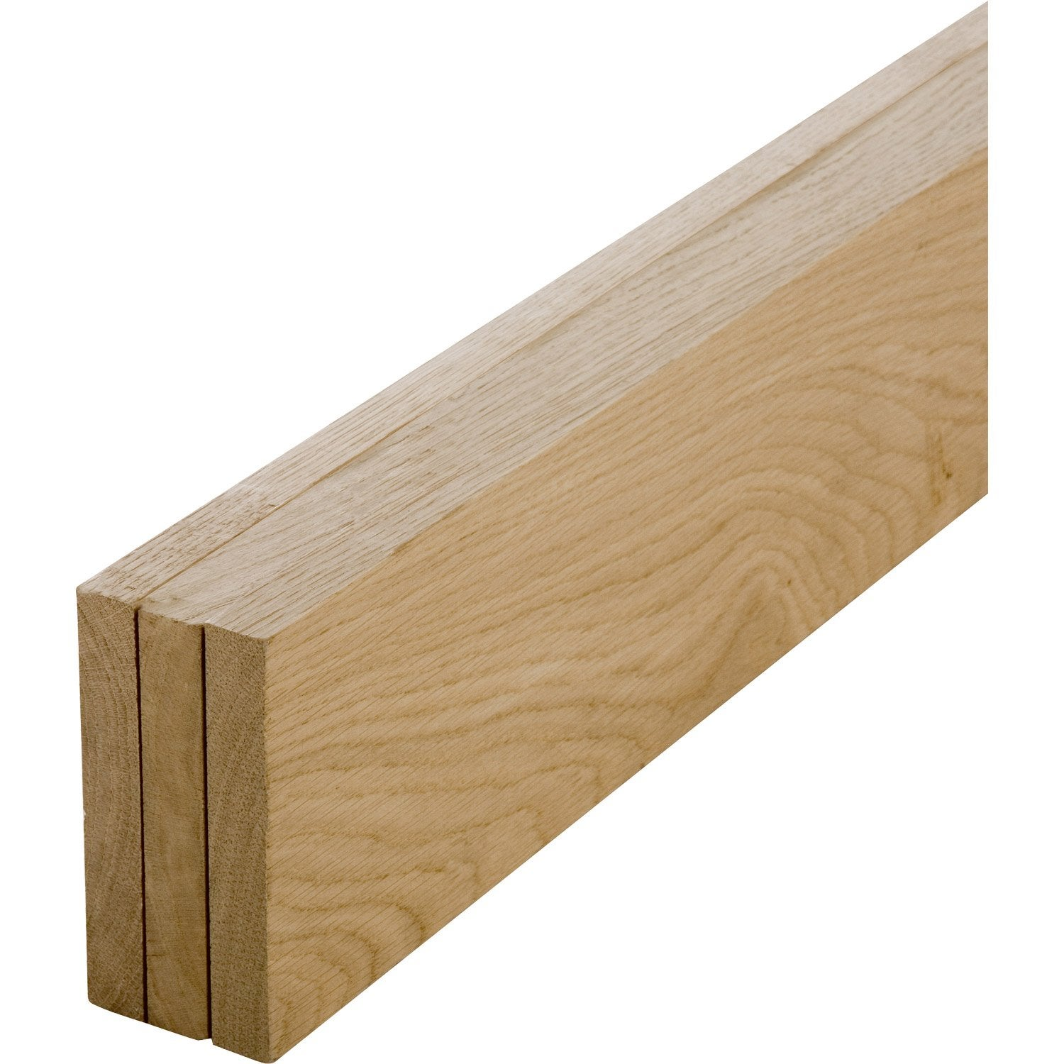 Lot de 3 planches ch ne petits noeuds rabot 20 x 140 mm l 1 8 m leroy merlin - Tablette chene leroy merlin ...
