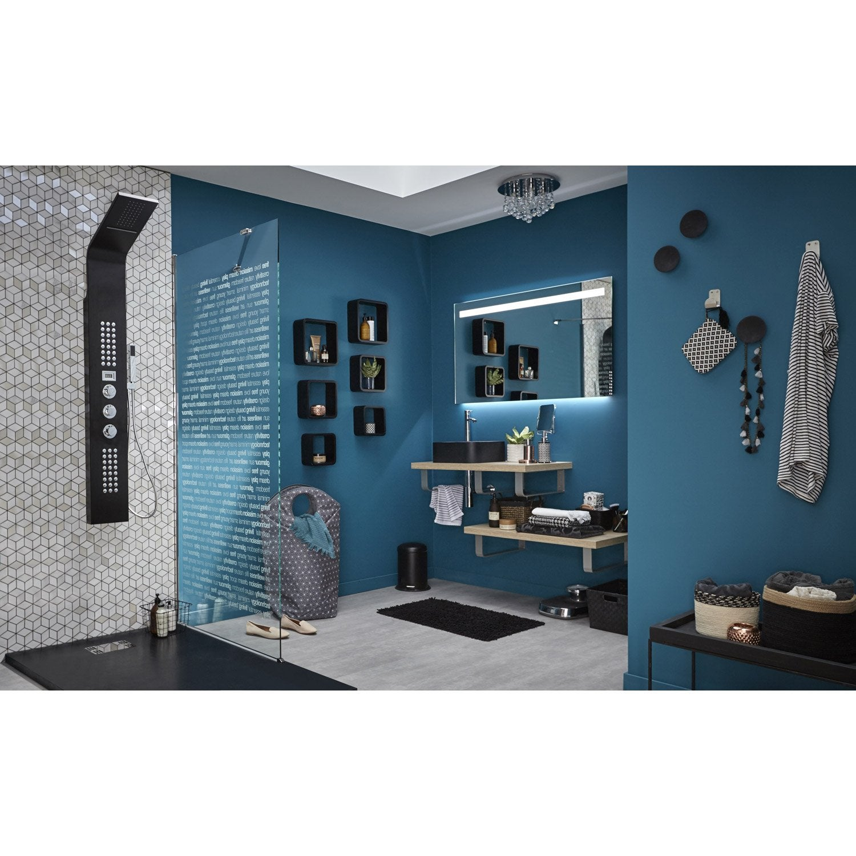 Miroir avec clairage int gr cm island leroy merlin for Miroir salon leroy merlin
