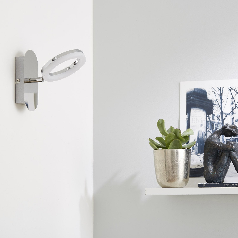 spot pat re led 1 x led int gr e chrome iring inspire leroy merlin. Black Bedroom Furniture Sets. Home Design Ideas