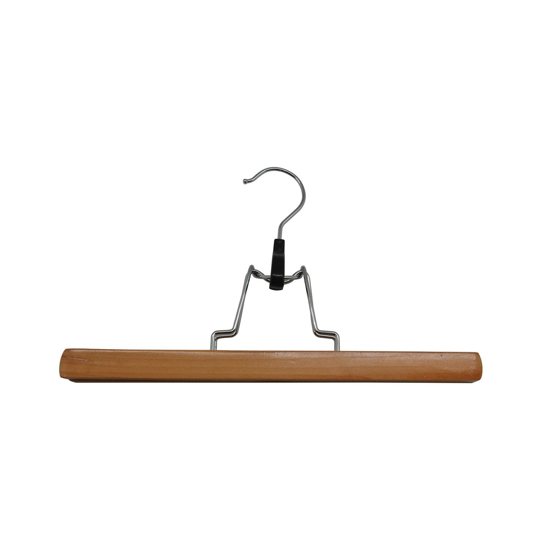 cintre porte pantalons bois beige x x p 2 cm. Black Bedroom Furniture Sets. Home Design Ideas